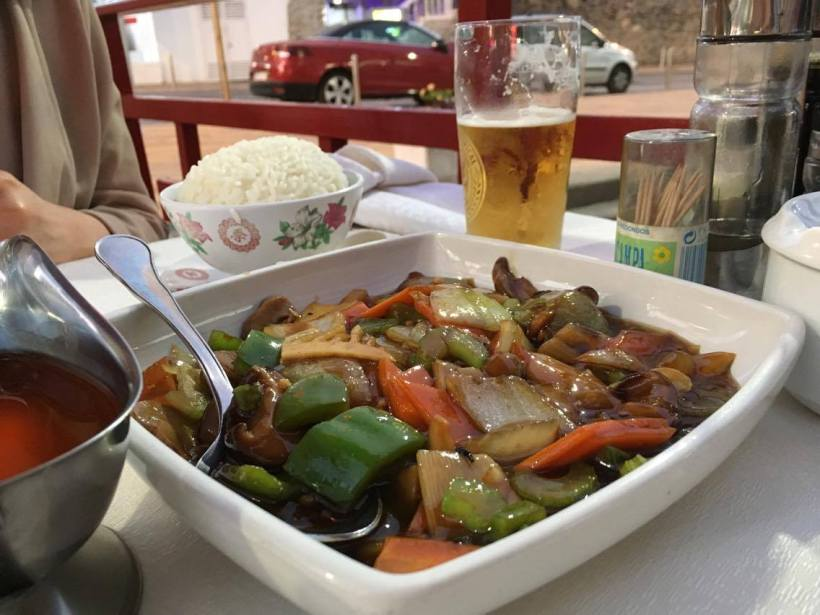 Eating chinese food in gran canaria all vegan